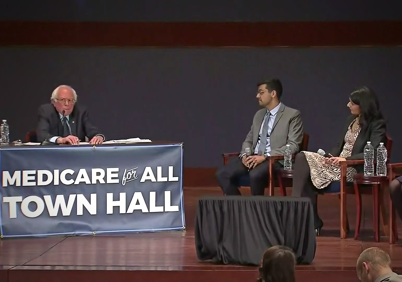 A panel discussion at the Medicare for All national town hall meeting