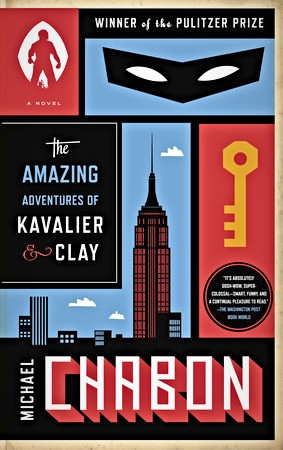 The book cover of The Amazing Adventures of Kavalier and Clay by Michael Chabon