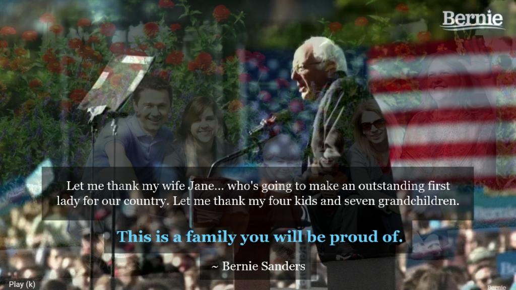 Bernie Sanders speaking at a rally