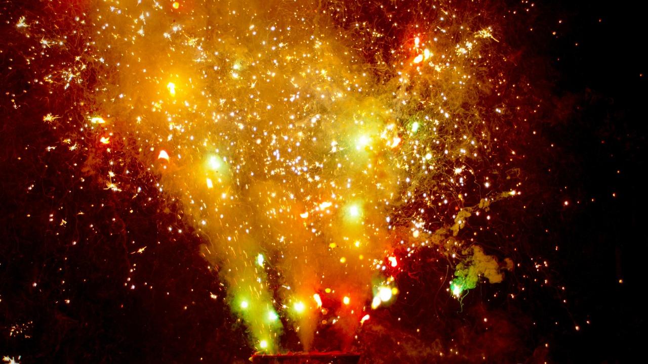Slow-Motion Fireworks