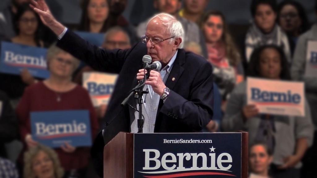 Bernie Sanders speaking at North Carolina rally