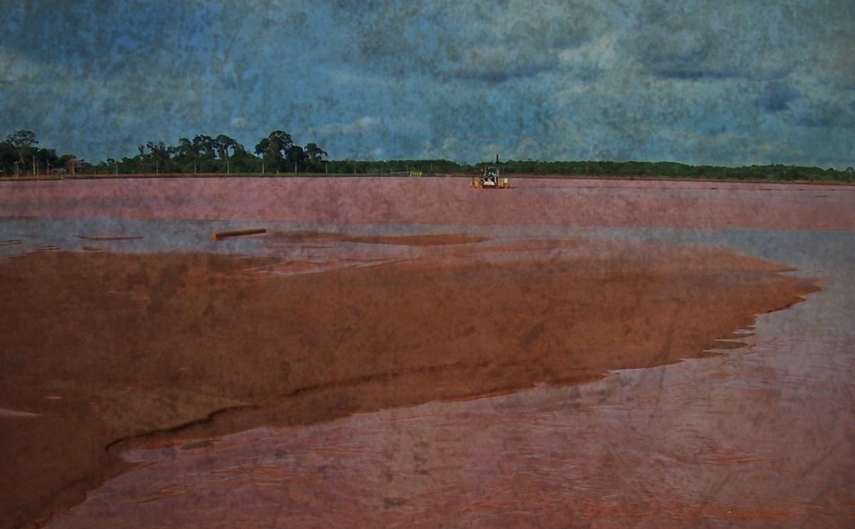 Big Oil rig in the Amazon River basin.